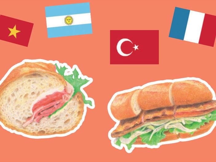 世界のサンドイッチ食べある記